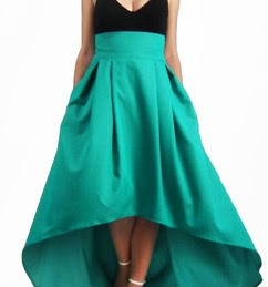 High-low skirt are perfect dress for casual parties