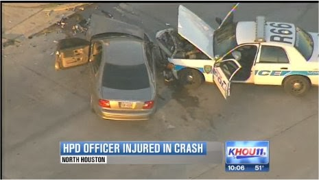 HPD Officer hurt in car accident on Little York in Houston | Houston