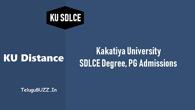 కేయూ దూరవిద్య డిగ్రీ, పీజీ ప్రవేశాలు,కేయూ ఎస్డీఎల్సీఈ డిగ్రీ, పీజీ ప్రవేశాలు,ku distance degree, pg admissions 2018,ku sdlce admissions in kakatiya university,ku sdlce degree,pg admissions 2018