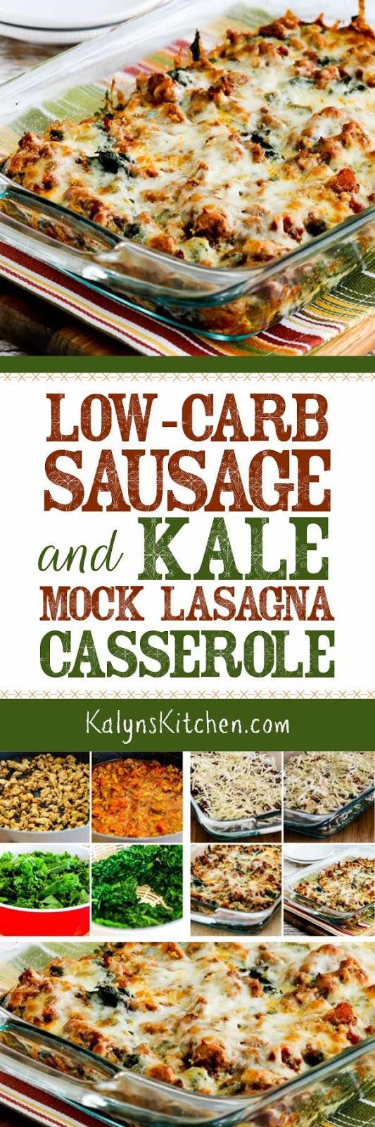 Kalyn's Kitchen®: Low-Carb Sausage and Kale Mock Lasagna Casserole