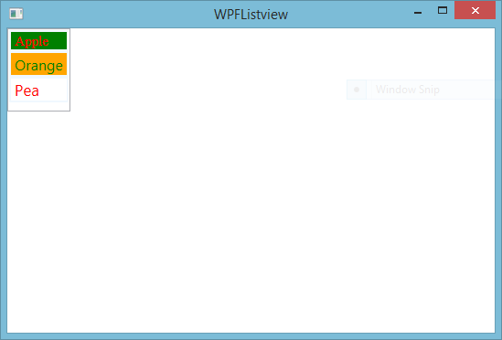 WPF Listview formatting, styling