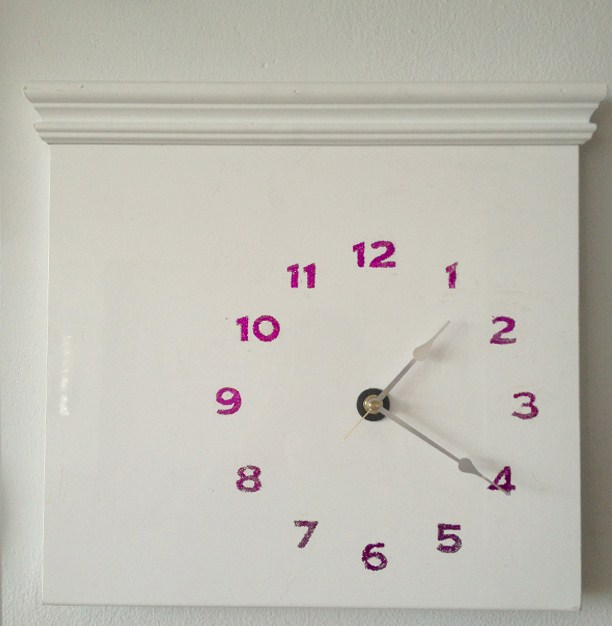 Kitchen Cabinet Door Becomes A Glittery Clock Ikea Hackers