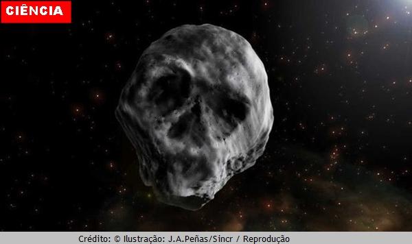 Asteroide em forma de caveira volta a passar perto da Terra em 2018; ele é conhecido como  'Asteroide do Halloween'