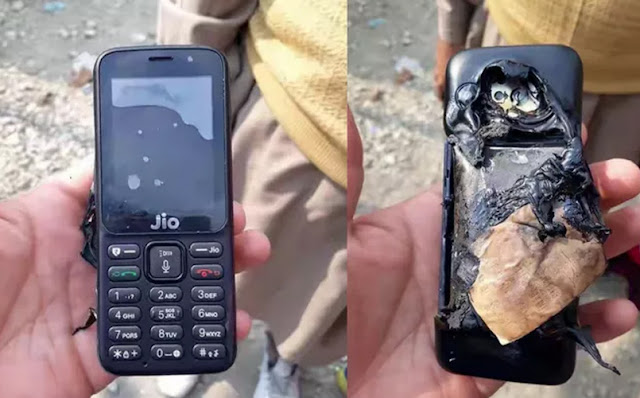 Reliance JioPhone Allegedly explodes