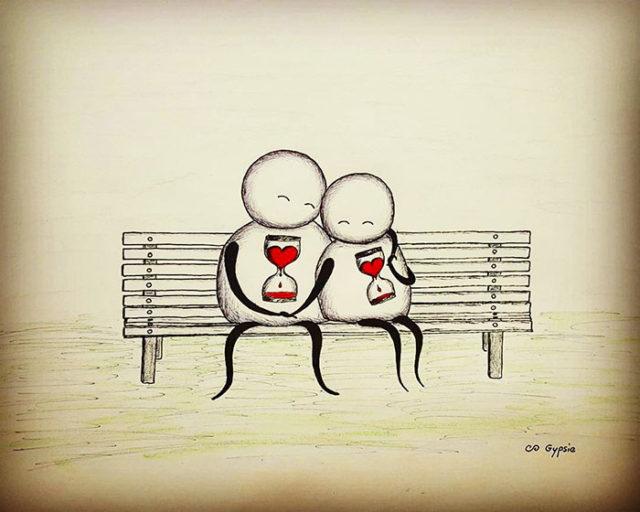 Instigantes e provocadoras ilustrações olham o amor de uma forma diferente