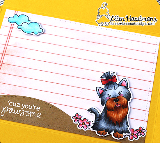 Custom Envelope Card by Ellen Haxelmans |  Terrific Terriers Stamp Set by Newton's Nook Designs #newtonsnook