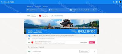 pantau perubahan harga tiket pesawat pake Google Flight