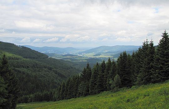 Widok na dolinę rzeki Belá.