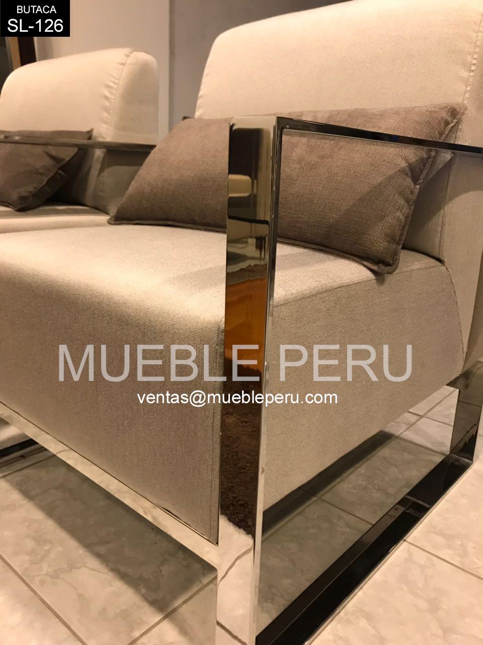 Butacas Tapizadas Modernas Simple Saln Regio Con Sof Y Butacas  # Muebles Butacas Modernas
