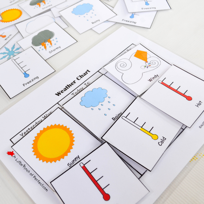 Free printable weather chart for home or school perfect hands on learning also rh alittlepinchofperfect