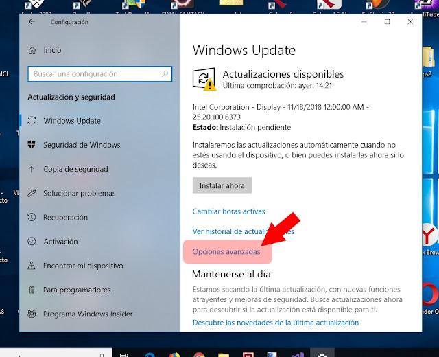 Configurando windows update