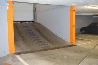 garage souterrain marches et pente