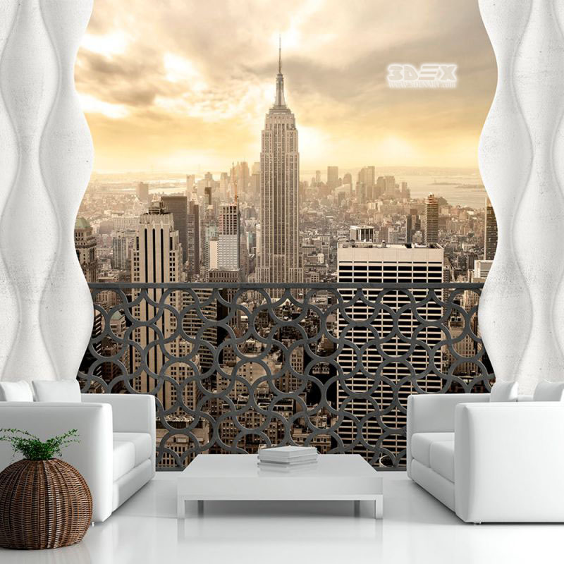40 Stylish 3D wallpaper for living room walls  3D wall murals 3D wallpaper with city images for small living room walls