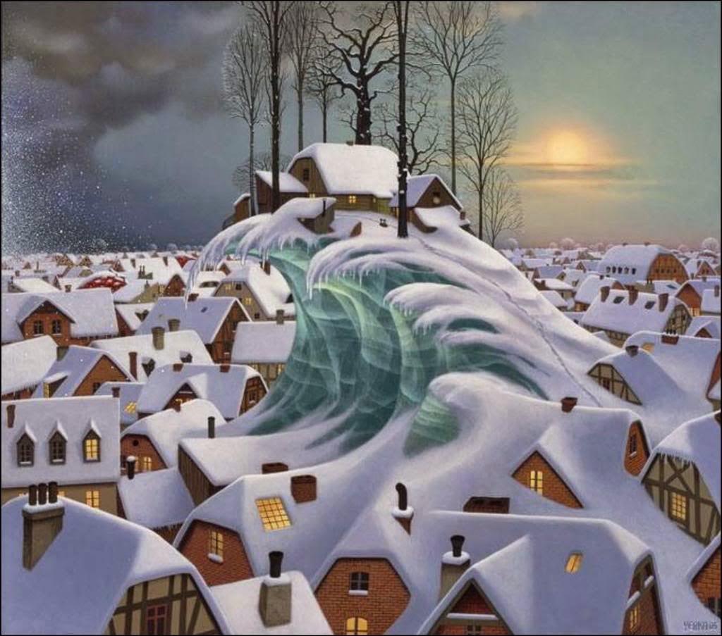 A Onda de Inverno - Jacek Yerka e seu surrealismo fantástico ~ Polonês
