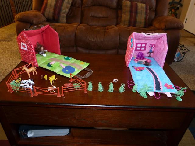 Fabric Dollhouse A Girl And A Glue Gun