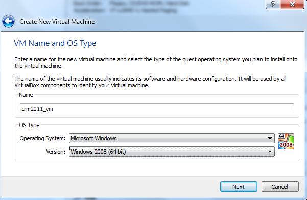 Building a CRM 2011 Virtual Machine on Windows 7 using VirtualBox