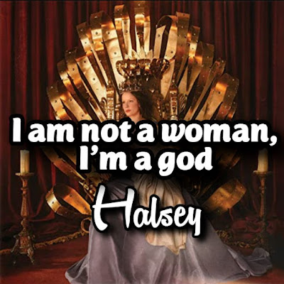 Halsey's Song: I am not a woman, I'm a god - Chorus: Oh I just wanna feel somethin', tell me where to go.. Streaming - MP3 Download
