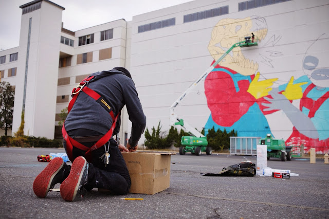 New Street Art Collaboration By Jasper Wong and Kelly Towles in Washiongton DC, USA. 6