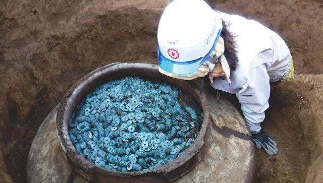В Японии нашли крупнейший в истории страны клад