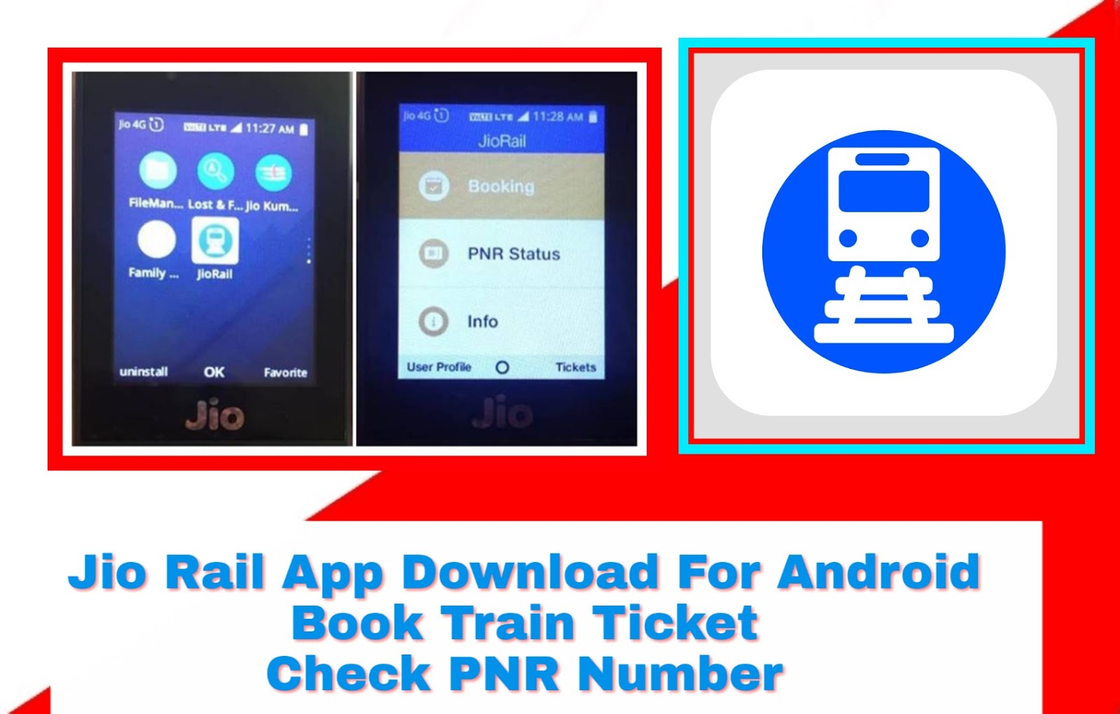 Railway Apps|Jio Rail App Download For Android|Book Train Ticket