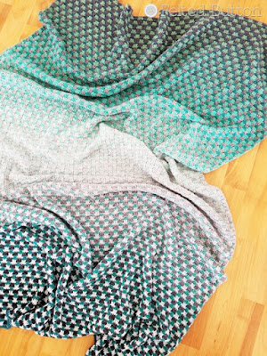 Trio Blanket made wtih Scheepjes Whirl -- free crochet pattern by Felted Button