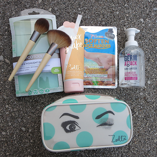 Back To School Beauty Essentials (EcoTools Define and Highlight Duo,X3 Lab Hand sanitizer pump, 7th Heaven Soften Sock Masques,Zoella Beauty Winking Beauty Bag) ~ #Review #Giveaway