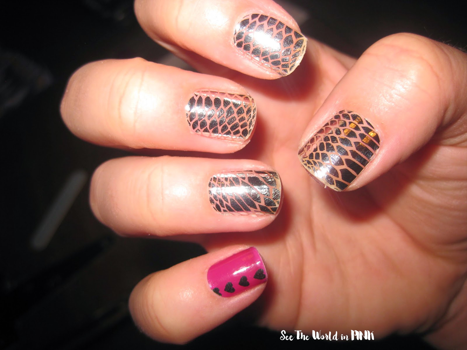 Manicure Monday - Essie and Minx Nail Stickers! | See the World in PINK