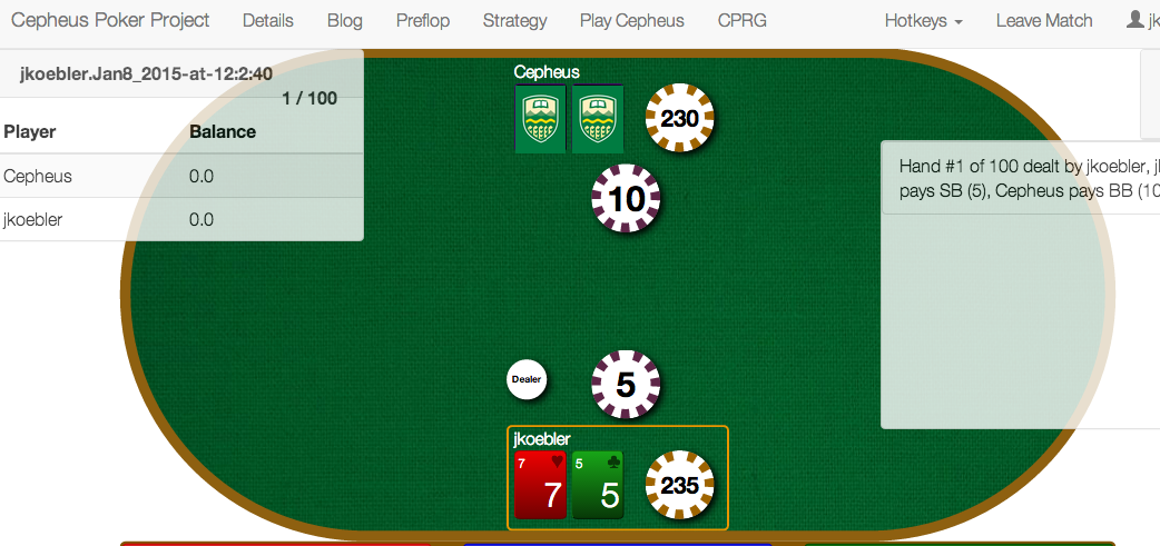 Genius Robot Play Texas Hold ' Em Poker