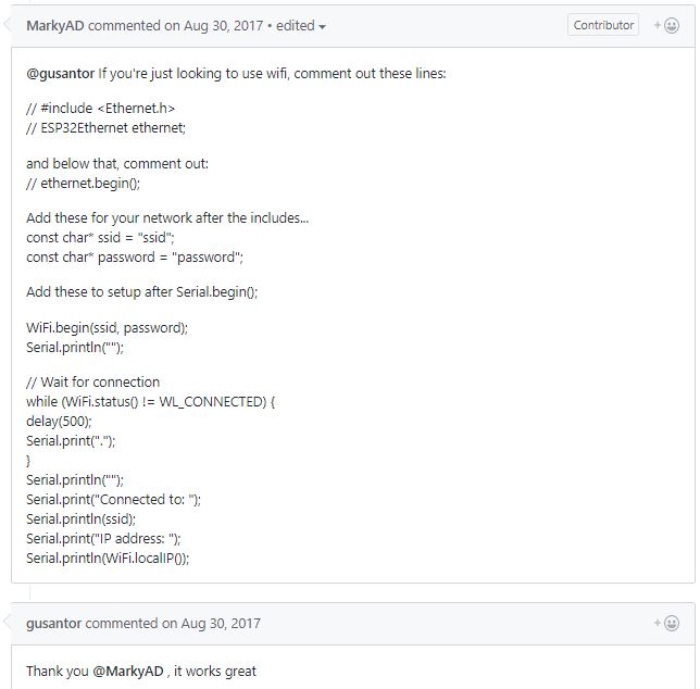 Blog of Wei-Hsiung Huang: ESP32 Arduino WebServer Libraries Overview