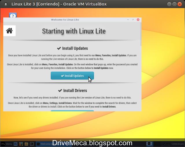 DriveMeca instalando Linux Lite paso a paso