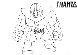 Cute Thanos Images And Photo HD Coloring Pages