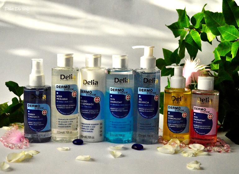 Delia Cosmetics - linia produktów do demakijażu, oczyszczania i tonizowania Dermo System  recenzja