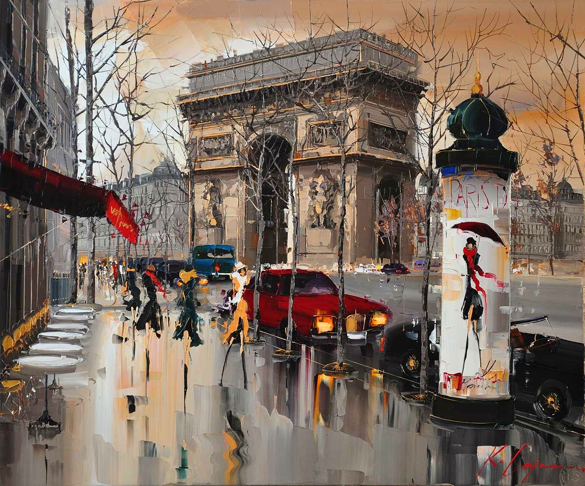 01-París-Kal-Gajoum-Paintings-of-Dream-Like Cities-of-the-World-www-designstack-co