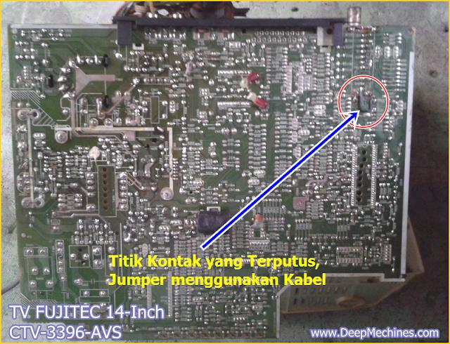 Gambar dan Keterangan Solusi Kerusakan TV FUJITEC 14-Inch (CTV 3396-AVS)