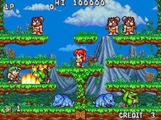 Joe & Mac: Tatakae Genshiji+arcade+game+portable+videojuego+descargar gratis