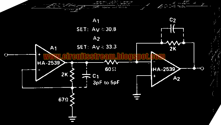 Simple Cascaded Amplifier Circuit Diagram