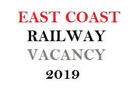EAST COAST RAILWAY VACANCY 2019