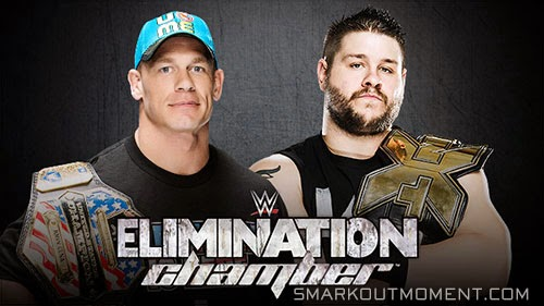 WWE Elimination Chamber 2015 Kevin Owens vs John Cena Match