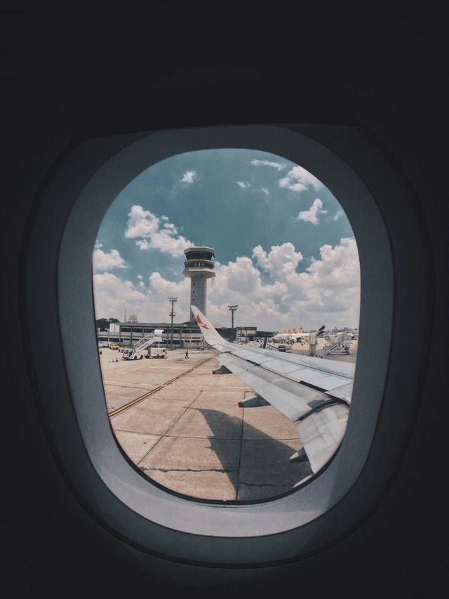 View from the airplane window during my first time to fly