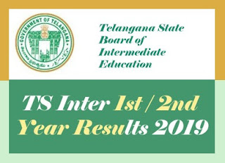 TS Inter Results 2019, TS Intermediate 1st Year / 2nd Year Results 2019, Intermediate Results 2019
