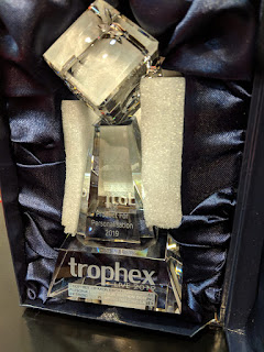 Sagetech Machinery win award for Best Product for Personalisation awarded by Trophex 2019.