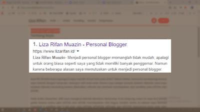 Liza Rifan Muazin - Personal Blogger