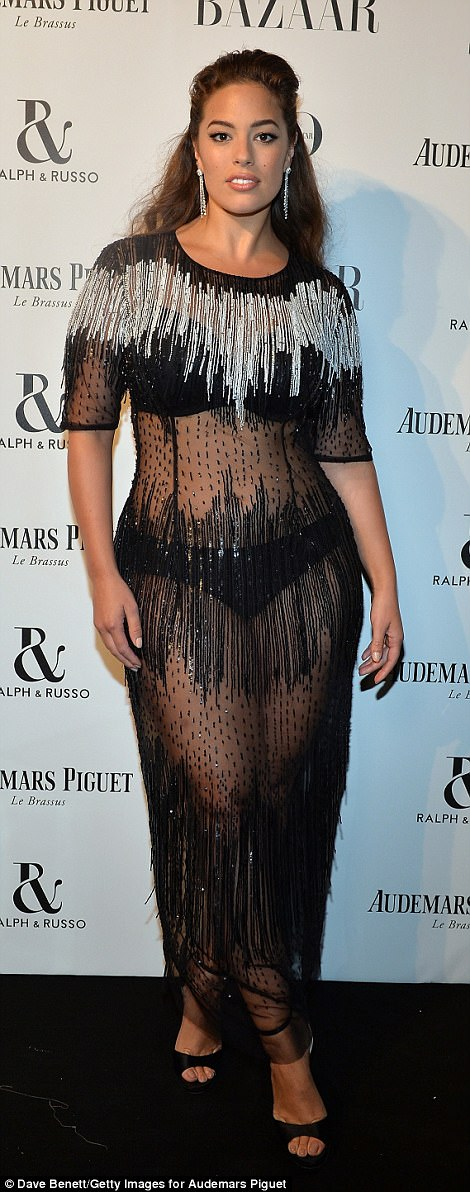 Va va voom! Ashley Graham flaunts curves in see through dress