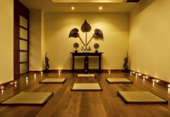 Yoga room yoga studio design interiors blog for Living room yoga sessions