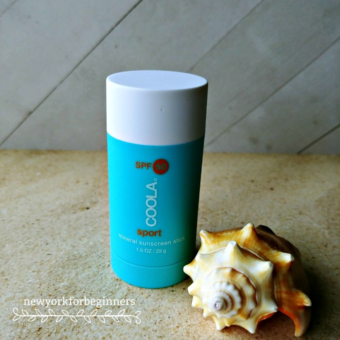 Review of Coola spf 50 sport physical nontoxic sunscreen at www.newyorkforbeginners.com