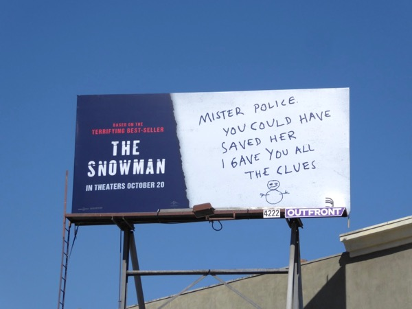 Snowman movie billboard