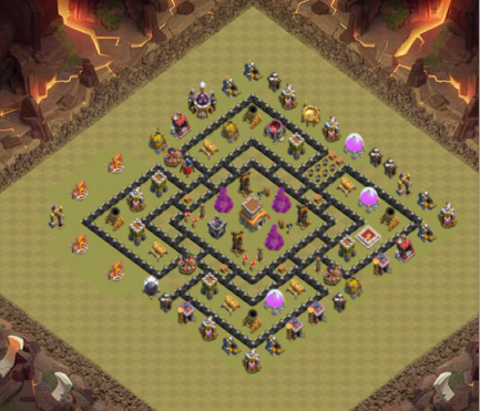 Base War Terkuat TH8 Anti Serangan Darat GoWiPe