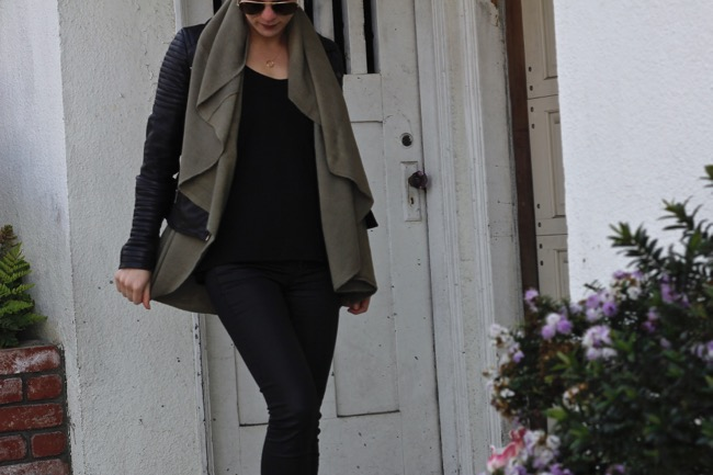 Current Habits, outfit, style, leather, jacket, shawl, vest, San Francisco
