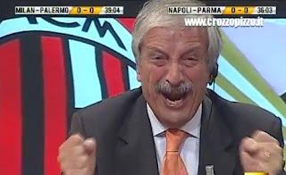 Tiziano Crudeli Direttastadio Milan Juventus 1-0 video telecronisti tifosi Serie A video