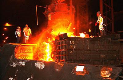 operadores planta de acero